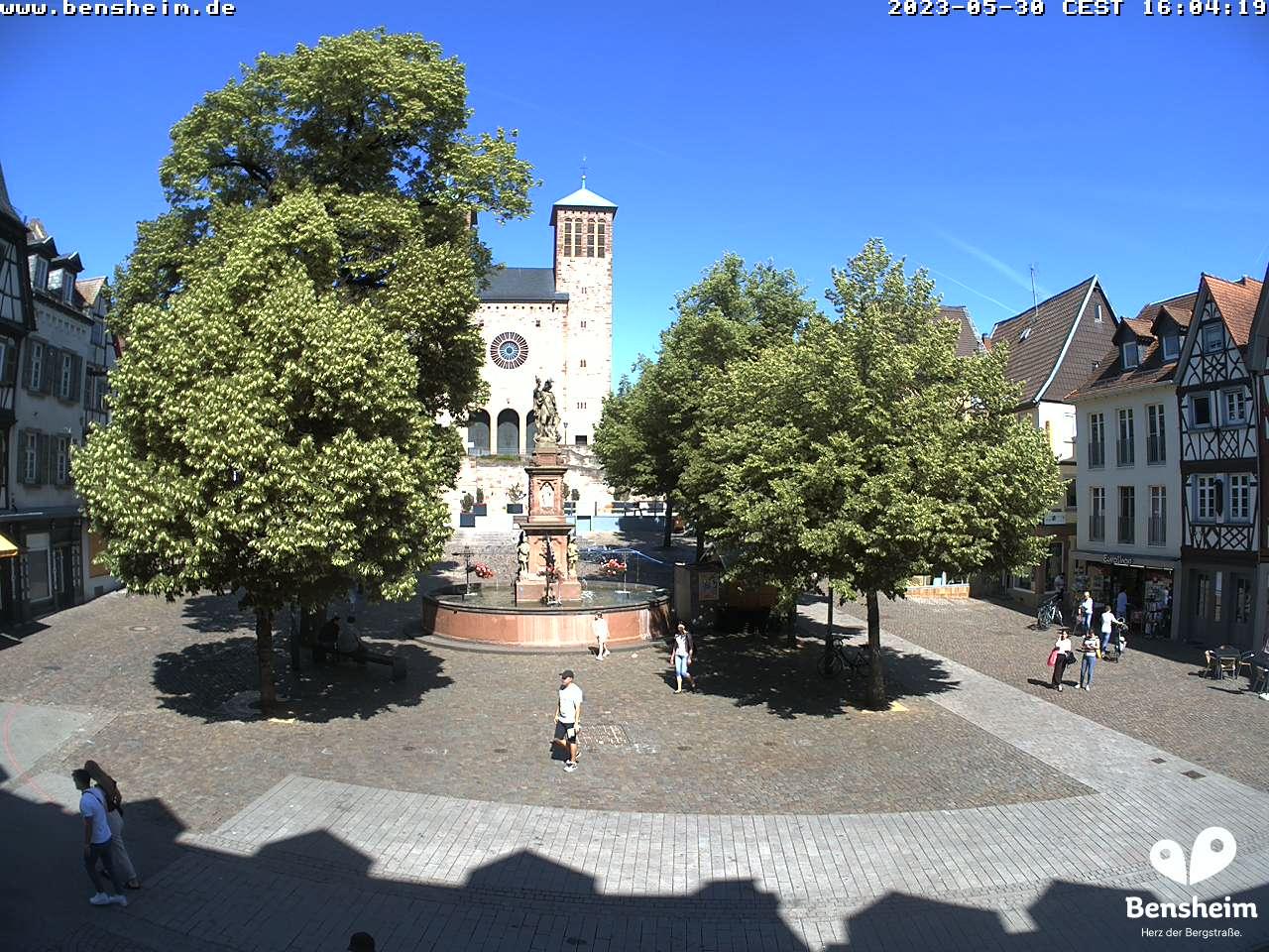 Webcam Marktplatz Bensheim